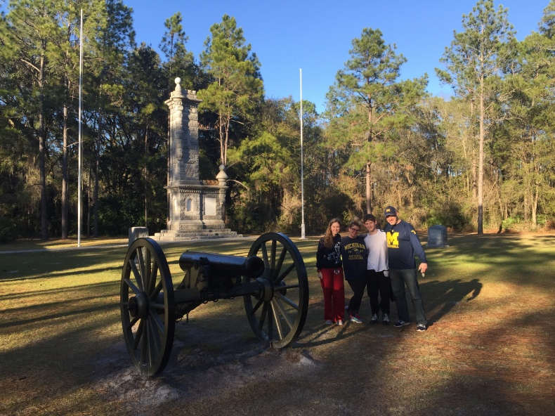 Cohen family at Olustee Battlefield